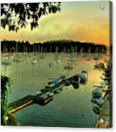 Sunrise On Mallet's Bay Acrylic Print