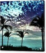 Sunrise On Miami Beach Acrylic Print