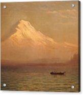 Sunrise On Mount Tacoma  Acrylic Print by Albert Bierstadt