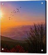 Sunrise On The Blue Ridge  Acrylic Print