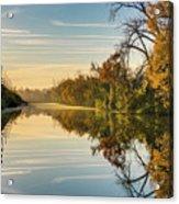 Sunrise On The Canal Acrylic Print