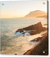 Sunrise On The Cantabrian Coast In Muskiz Acrylic Print