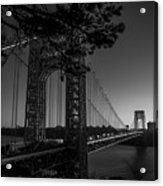 Sunrise On The Gwb, Nyc - Bw Landscape Acrylic Print