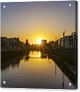 Sunrise On The Liffey River - Dublin Ireland Acrylic Print