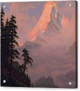 Sunrise On The Matterhorn         Acrylic Print