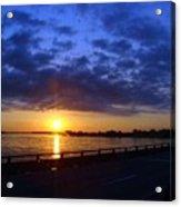 Sunrise On The Mississippi Acrylic Print