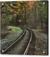 Sunrise On The Rails Acrylic Print