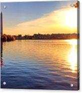 Sunrise On The Tidal Basin Acrylic Print