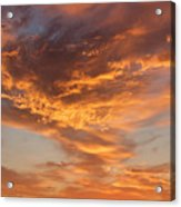 Sunrise Orange Sky, Willamette National Forest, Oregon Acrylic Print