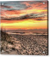 Sunrise Outer Banks Of North Carolina Seascape Acrylic Print