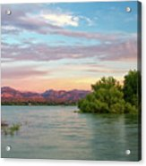 Sunrise Over A Colorado Lake  Acrylic Print