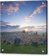 Sunrise Over Beaghmore Stone Circles Acrylic Print