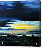 Sunrise Over Boulmer Beach Acrylic Print