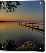 Sunrise Over Cayuga Lake Acrylic Print