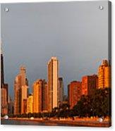 Sunrise Over Chicago Acrylic Print