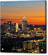 Sunrise Over Cincinnati Acrylic Print