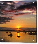 Sunrise Over City Island Acrylic Print