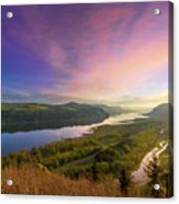 Sunrise Over Columbia River Gorge Acrylic Print