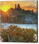 Sunrise Over Corfe Acrylic Print