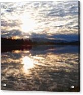 Sunrise Over Flooded Field In Bow Acrylic Print
