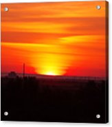 Sunrise Over Hanford  Acrylic Print