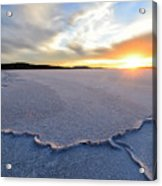 Sunrise Over Lake Gairdner, Acrylic Print