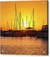 Sunrise Over Long Beach Harbor - Mississippi - Boats Acrylic Print