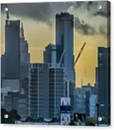 Sunrise Over Melbourne Acrylic Print