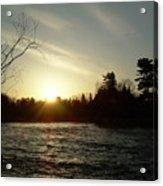 Sunrise Over Mississippi River Acrylic Print