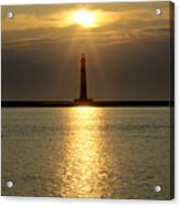 Sunrise Over Morris Island Lighthouse Acrylic Print