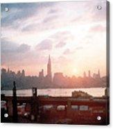 Sunrise Over Nyc Acrylic Print