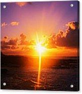 Sunrise Over Ocean, Sandy Beach Park Acrylic Print