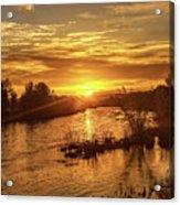 Sunrise Over  Payette River Acrylic Print