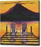 Sunrise Over Rainier Acrylic Print