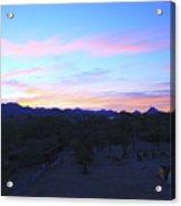 Sunrise Over Rincon Mountains Acrylic Print