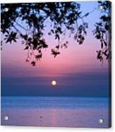 Sunrise Over Sea Acrylic Print