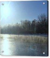 Sunrise Over The Androscoggin River Acrylic Print