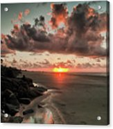 Sunrise Over The Beach Acrylic Print