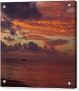 Sunrise Over The Caribean Acrylic Print