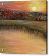Sunrise Over The Marsh Acrylic Print