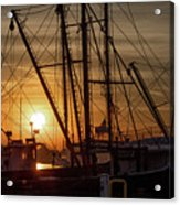 Sunrise Over The New Bedford Harbor Acrylic Print