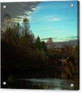 Curtain Over The Pond Acrylic Print