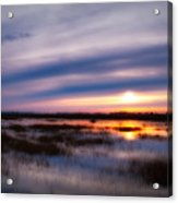 Sunrise Over The Salt Marsh Acrylic Print