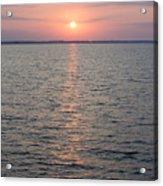 Sunrise Over The Sea Horizon Acrylic Print