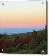 Sunrise Over The Shenandoah Valley Acrylic Print