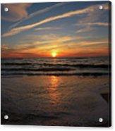 Sunrise Over The Waves Acrylic Print