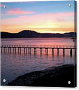 Sunrise Over Tomales Bay Acrylic Print