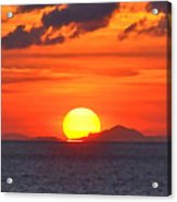 Sunrise Over Western Cuba Acrylic Print