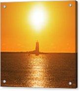 Sunrise Over Whaleback Light Portsmouth Nh New Hampshire Acrylic Print