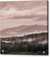 Sunrise Pink Over Tlacolula Valley Acrylic Print